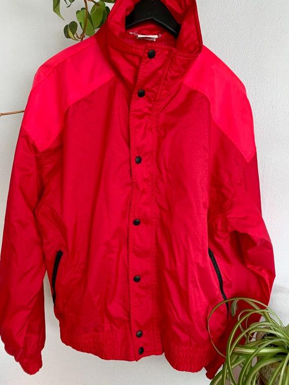 Vintage Red White Stag Windbreaker Jacket
