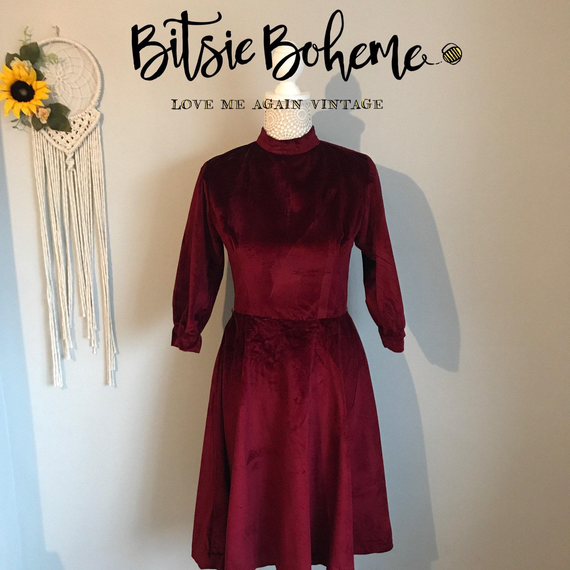 fd215a76cb141 Burgundy Velvet Skater Dress Uk - PostParc