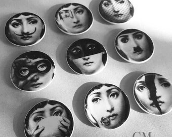 Miniature Fornasetti Inspired Wall Plates