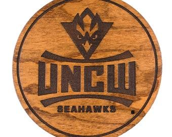 Seahawks Logo Jewelry Gift for Women UNC Wilmington Earrings by Spirit Hoops