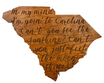 Carolina In My Mind - South Carolina Wall Hanging – Crafted from Cherry Wood