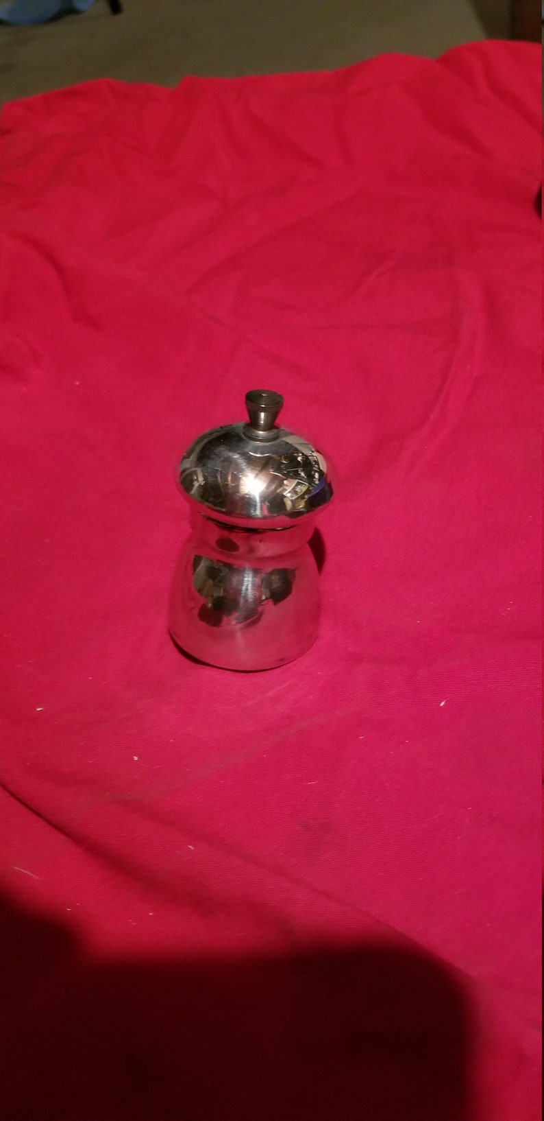 Eales of Sheffield pepper mill set in pewter no 830