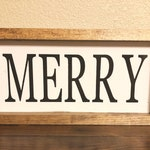 wood framed Christmas Signs