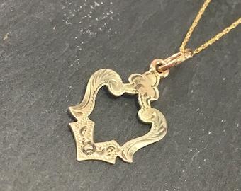 10k Victorian Pendant | Antique Stick Pin Conversion Necklace | Antique Victorian Pendant | Victorian Lingerie Pin | Oh la la
