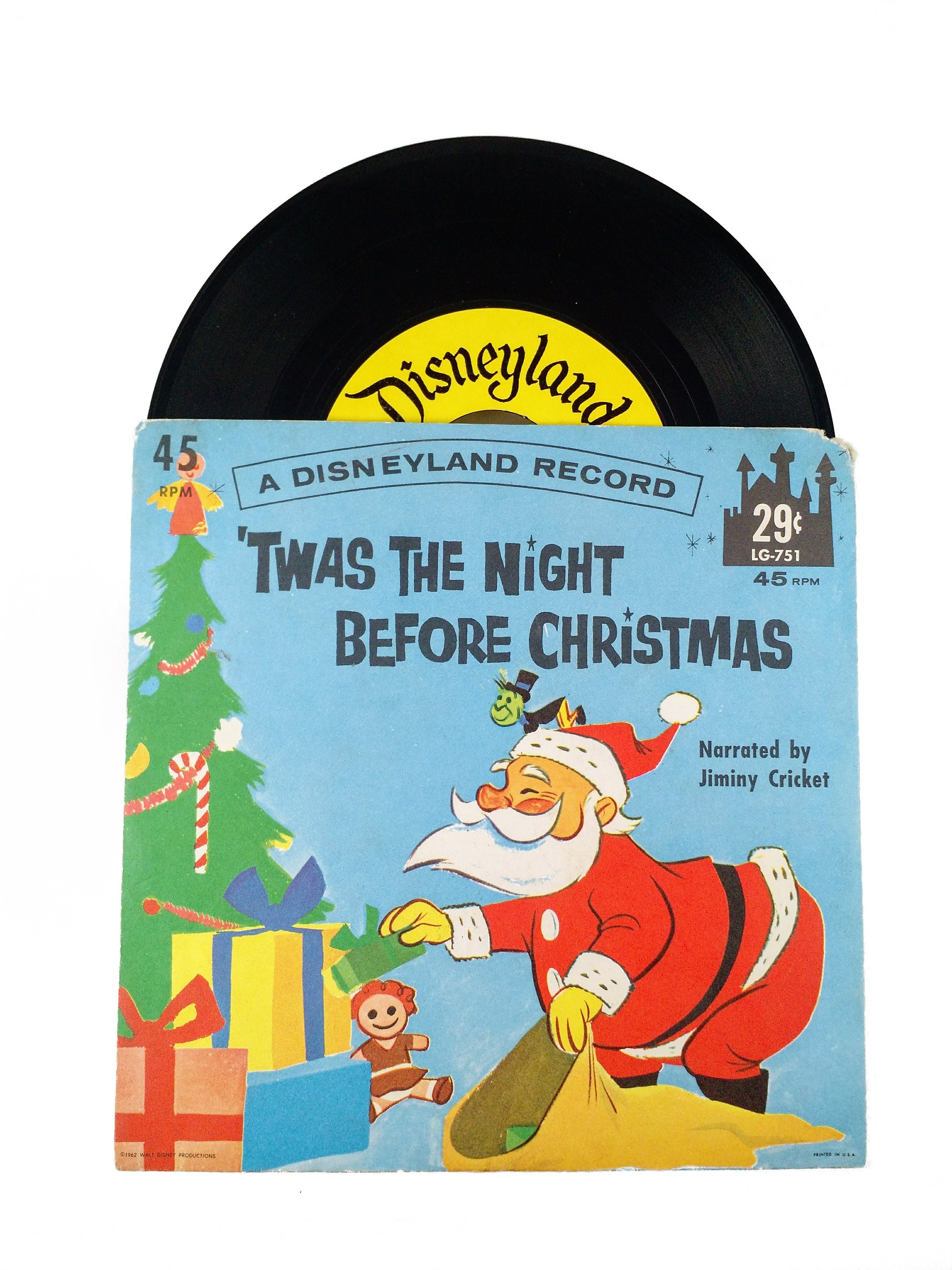 Twas the Night Before Christmas Disneyland Record narrated by | Etsy