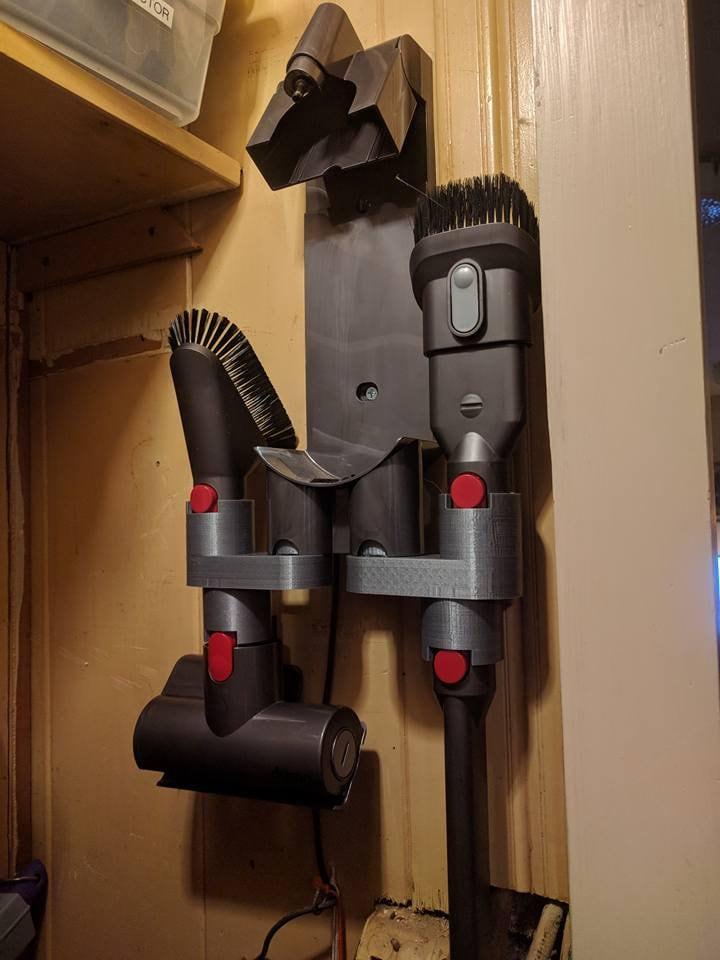 dyson v10 v8 v7 accessory attachment bracket etsy. Black Bedroom Furniture Sets. Home Design Ideas