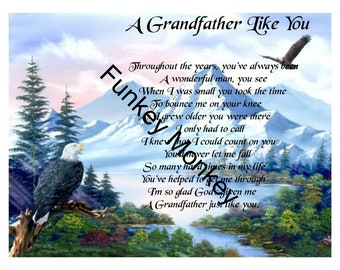 A grandfather like you poem  digital download