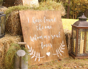 Bible Verse Wedding Sign