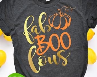 fab boo lous svg halloween tshirt pumpkin svg svg design fall shirt idea thanksgiving svg fabulous svg cut file silouhette cricut