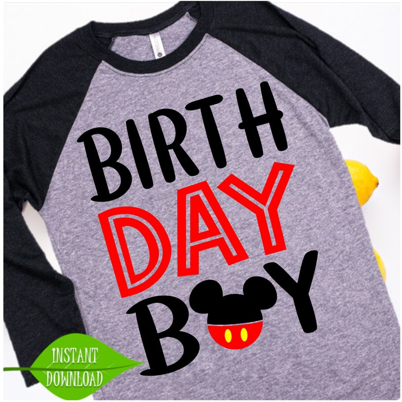 Mickey Mouse Birthday Svg Boy Shirt Its My