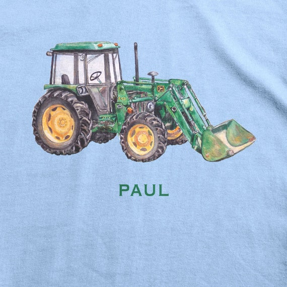 Tracteur design brodé sur un Adulte Robe Avec Personnalisé Nom agriculture farmer