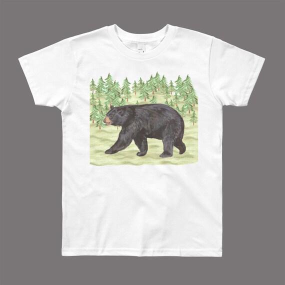 45a84565 Bear shirt, black bear shirt, wildlife shirt kids, bear t shirt, kids bear  shirt, toddler bear shirt, bear shirt for boys, bear tshirt