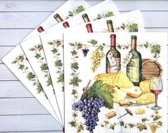 16 x Sip Sip Hooray Beverage Napkins 25cm Adults Party Tableware Supplies Wine