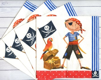 Paper Nation 3D Decoupage Papers 42901 Pirate Boy