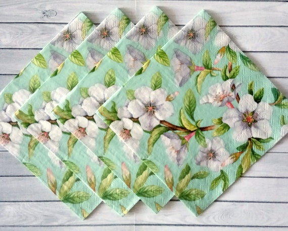 Four LITTLE ANGELS 3 ply NAPKINS 33cm x 33cm FOR DECOPAGE CRAFT or TABLE