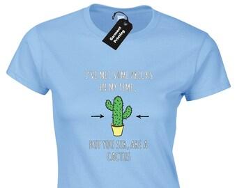 f6c3d31bb17 I've Met Some Pricks Ladies T-Shirt Womens Funny Rude Offensive Cactus  Design Joke Humour Meme Novelty Cool Gift Present Top Idea