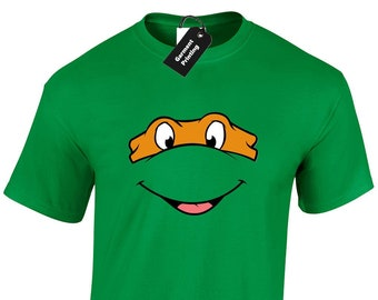 FUNNY NINJA TURTLES POSTER MOVIE PIZZA RETRO IDEAL GIFT UNISEX COOL T SHIRT