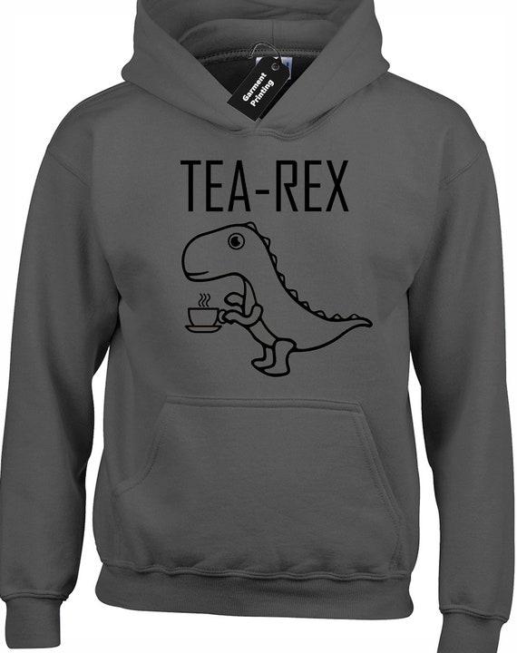Tea Rex Pullover Men Ladies Cool New Gift Jurassic Dinosaur Novelty Sweatshirt