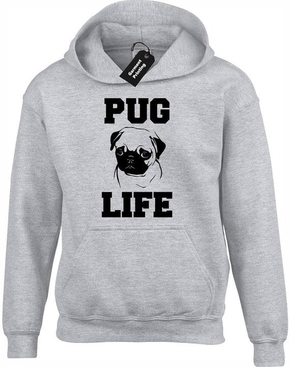 Pug Head Funny Novelty Sweatshirt Jumper Top