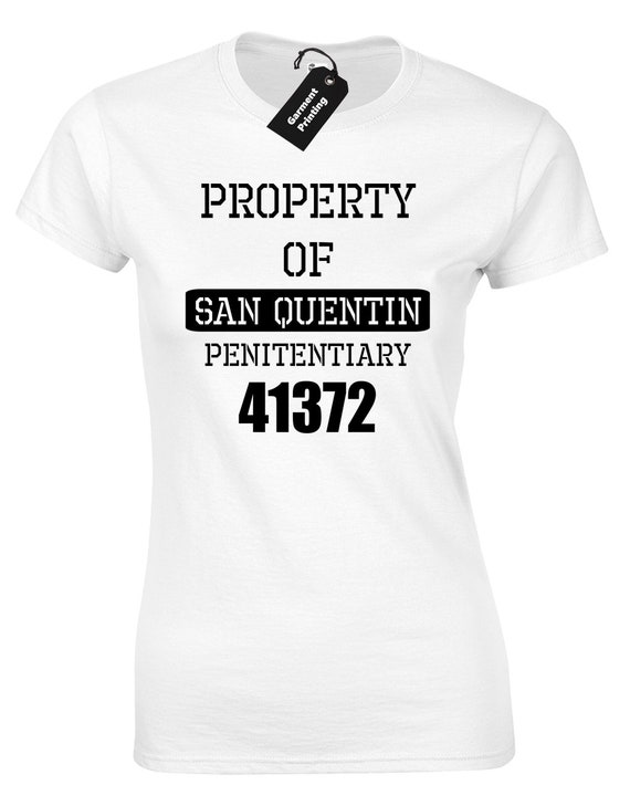 Property of San Quentin State Prison Kids Tee Shirt Boys Girls Unisex 2T-XL