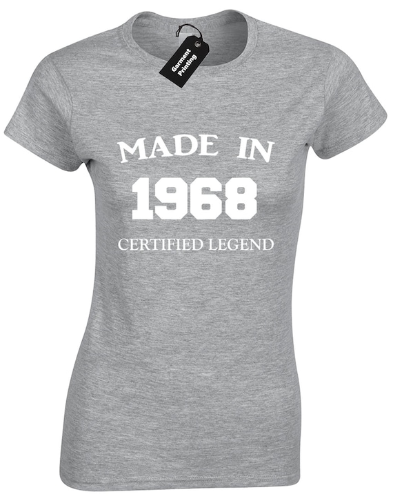 funny men/'s birthday gift idea t shirt Made in 1968 Quality Vintage