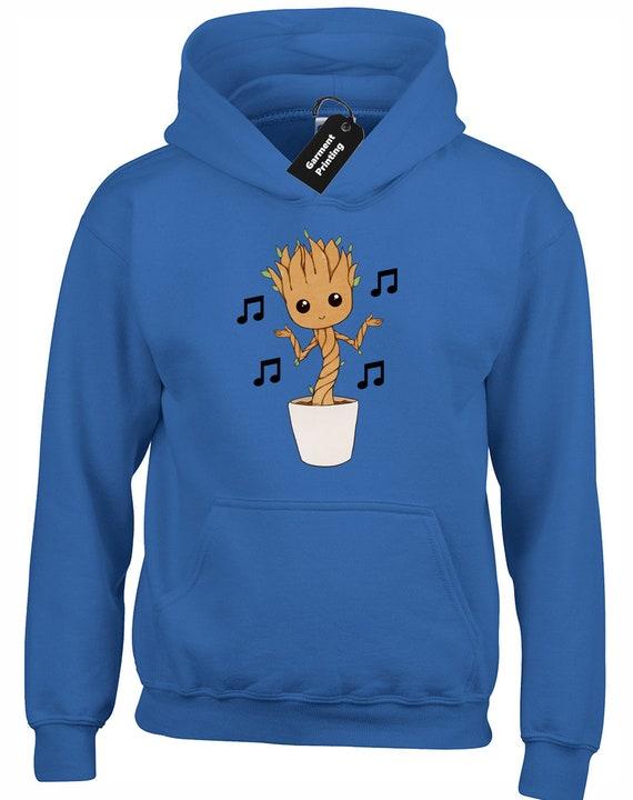 I Am Groot Mens Hooded Guardians Of The Baby Inspired Meme Movie Kids Hoodie