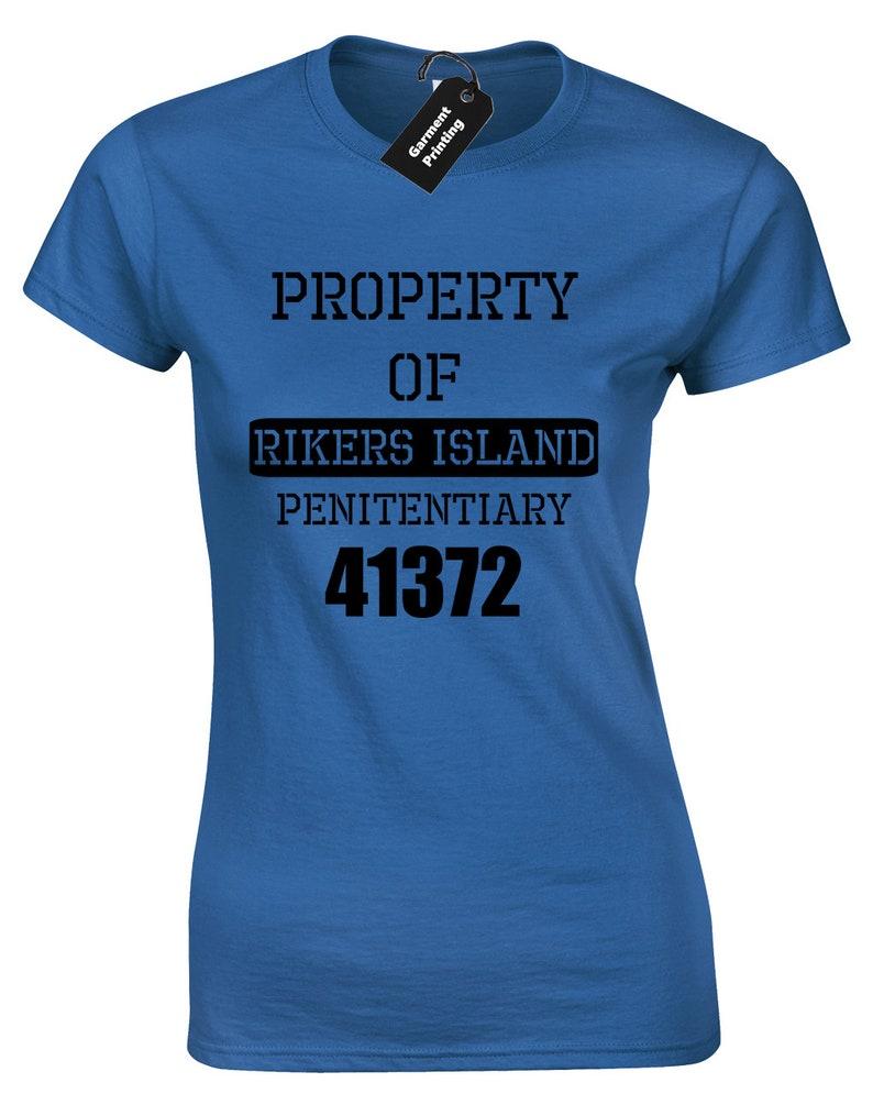 PrisonEtsy T Propriété Shirt Dames Rikers Island Femmes De mn0Nw8v