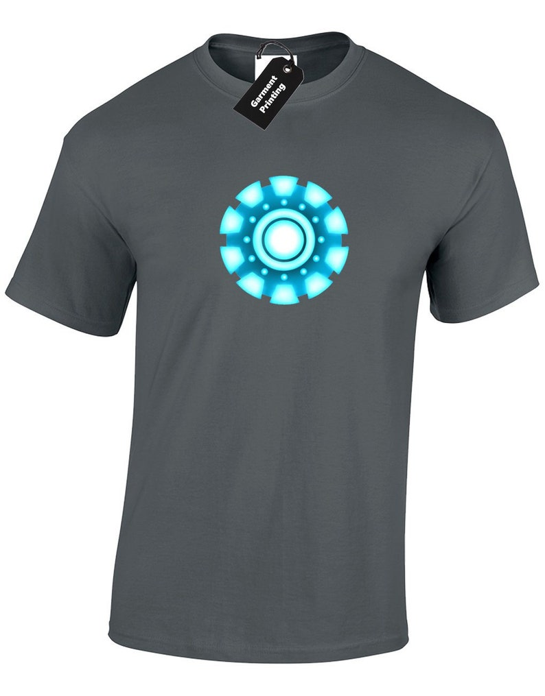 7691c3b3f61 Arc Reactor Mens T Shirt Unisex Man Design Avenger Iron Cool