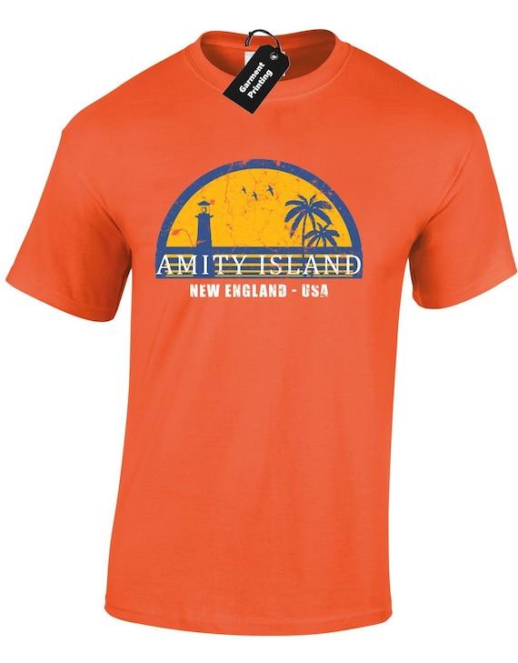 Amity Island New England USA Mens T-shirt - S to XXL