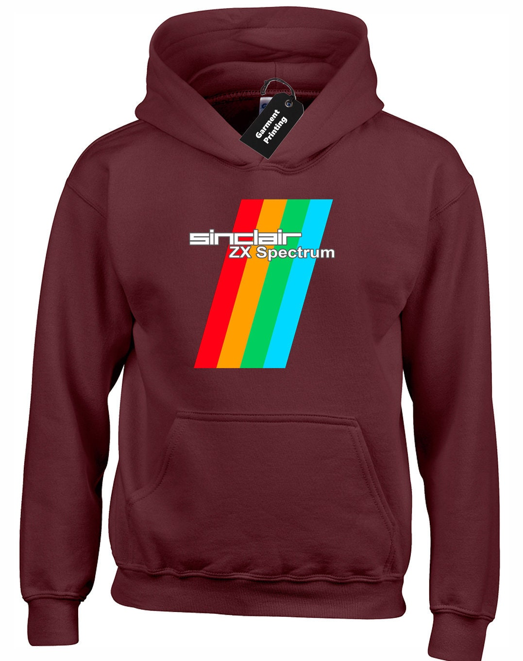 Sinclair ZX Spectrum Hoodie, many colours,  S to XXlL