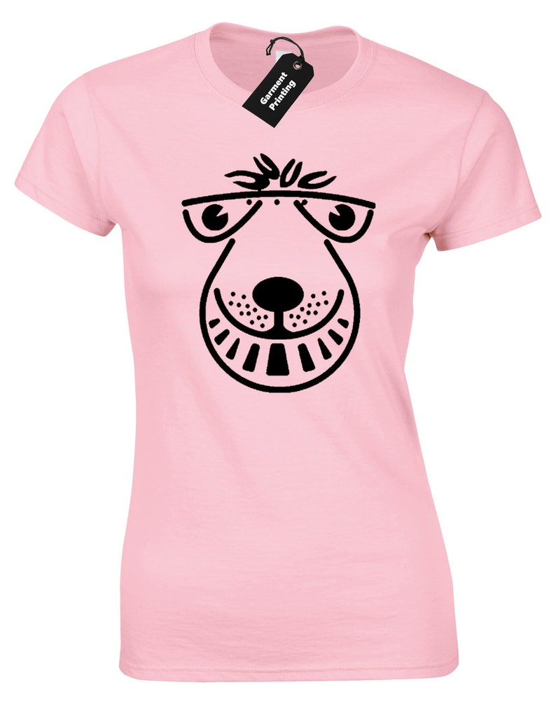 Women's Pink Space Hopper Tee. Other colours available.
