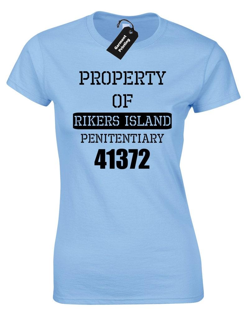 Propriété Dames T Femmes PrisonEtsy Island Shirt De Rikers wkiOXuPZTl