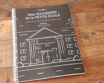 En stock - Livre de SOUVENIRS D'ÉCOLE PRIMAIRE avec autocollants - Collection Mes printemps | 96 pages | Format 8,5 x 11 pouces