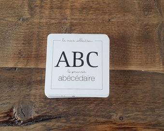 En STOCK - ABÉCÉDAIRE, 26 cartes d'apprentissage recto-verso des lettres de l'alphabet illustrées - mots