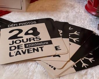 En STOCK  -  Cartes de l'avent - Défi photo de Noël - 24 jours