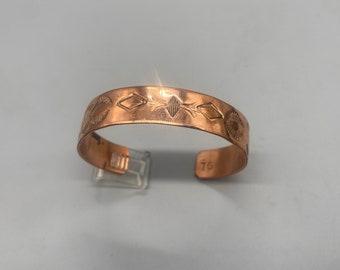 Handmade Copper Cuff Silver Twist Navajo Bracelet Native American Jewelry