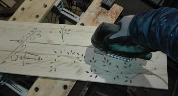 Planche de bois maison, décoration de jardin, stèle, stand, nature, bois,  rural, légèrement flambé