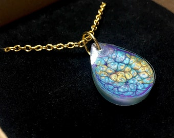 Handmade Resin Rainbow Unicorn Drops Necklace