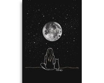 Under The Full Moon [Print]