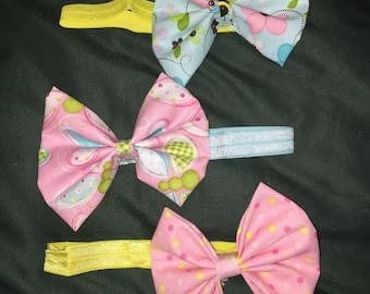 "8"" Easter Headband Bows"