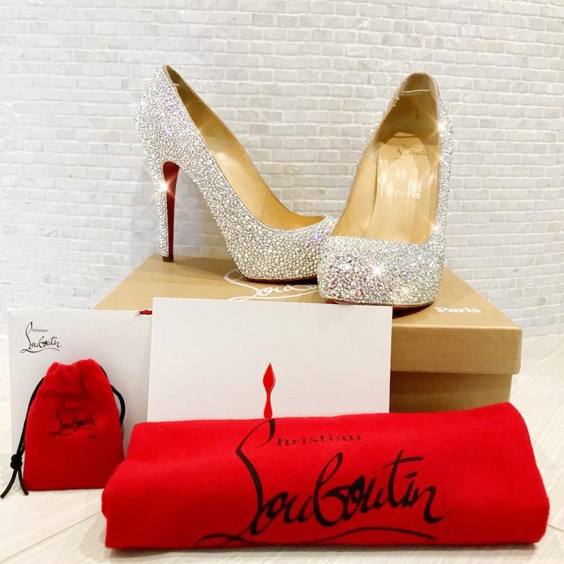 big sale 05963 afa48 SOLD Cinderella Christian Louboutin Wedding Shoes