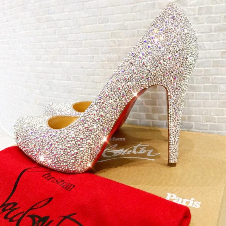 big sale 85c2a 3ec44 SOLD Cinderella Christian Louboutin Wedding Shoes