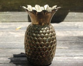 Brass Pineapple Vase Brass Decor Office Decor Desk Accessory Library Table Accent Pineappl