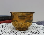 Small Brass Planter Made in India India Brass Brass Planter