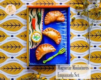 Colorful Empanada Set - Handmade Magnetic Food Miniatures