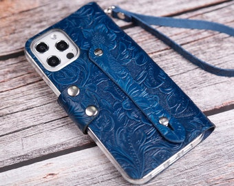 Wristlet Men's iPhone 11 Pro Max 8/7/6 Plus/12 Pro Max leather case wallet Monogram Leather Womens Personalized