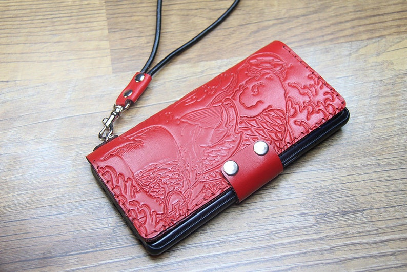 S9 S8 Note 9 case S21 Ultra 5G plus S20 FE handmade Samsung Galaxy Note 20 S10 Lite Wristlet Leather Wallet Case Galaxy NOTE 8 S7  edge