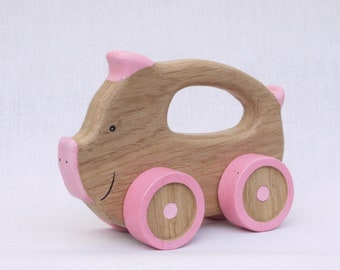 Wooden Toy, pig wooden responsible for any toy, kids gift, wooden, toy, natural toy animals