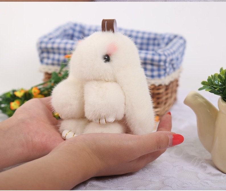 67ae2a3ac Large 14cm Cute Real Mink Fur Rabbit Doll Bunny Bag Bugs
