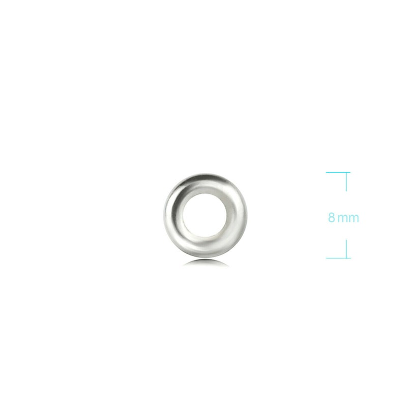 0.9 thickness 6mm 8mm and 10mm Close Jump Ring in 4mm silver jumprings sterling silver